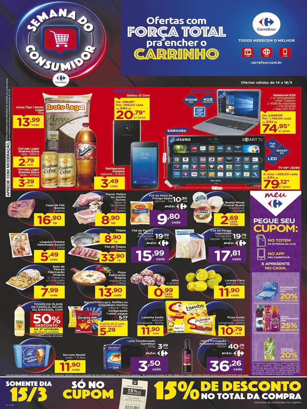 Ofertas-Carrefour1-10-1 Folheto Semana do Consumidor Carrefour válido até 18/03: confira!