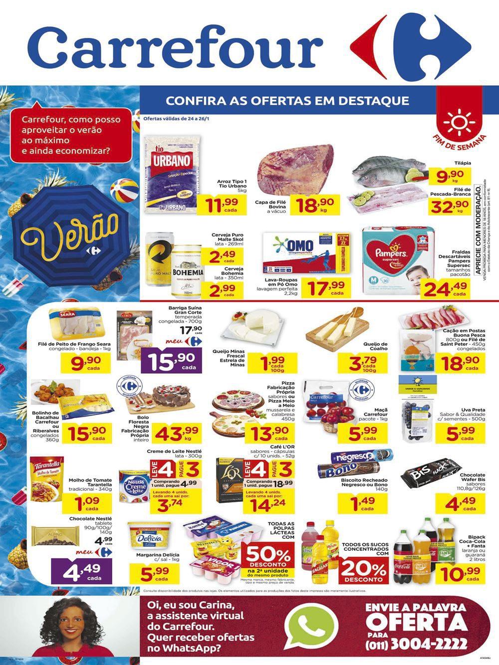 Final de Semana Carrefour folheto com ofertas válidas até 26/01