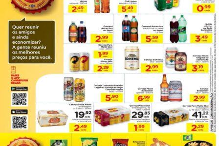 Novo Folheto Carrefour Boteco Ofertas de Bebidas até 23/01