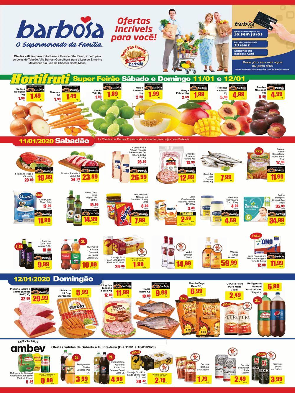barbosa-Ofertas-tabloide1 Barbosa Supermercados Ofertas Incríveis para você até 16 de Janeiro