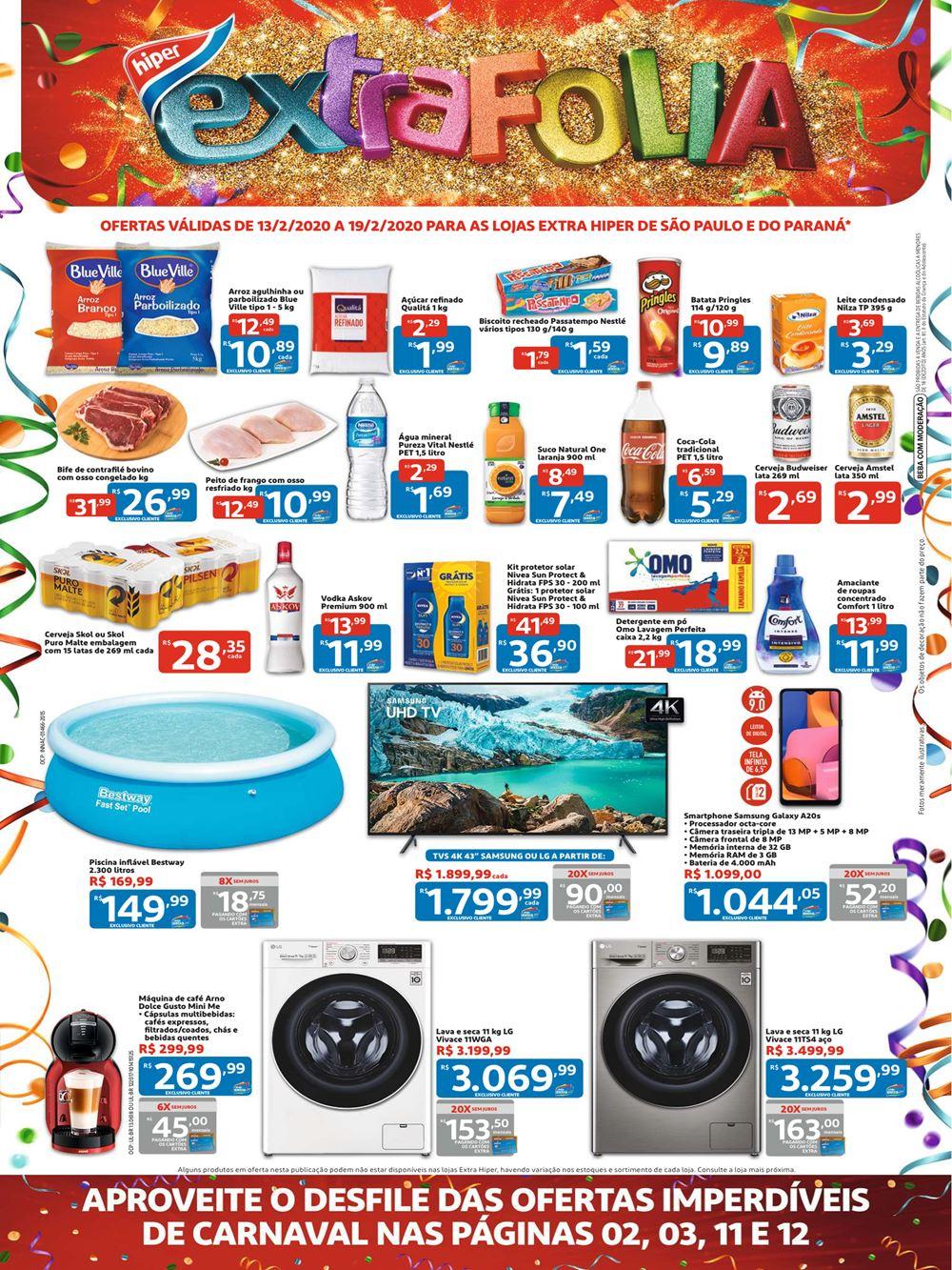Extra-Ofertas-Hiper1-2 Novo Folheto Extra Hiper confira ofertas até 19 de Fevereiro