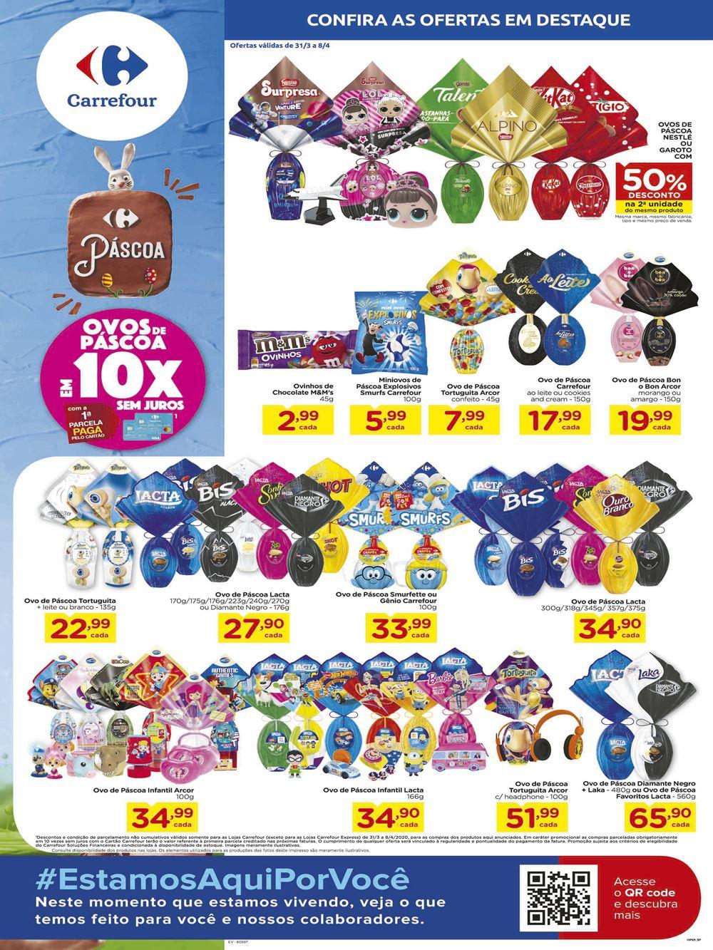 Novo Folheto Carrefour Páscoa hoje ofertas até 08 de Abril: confira