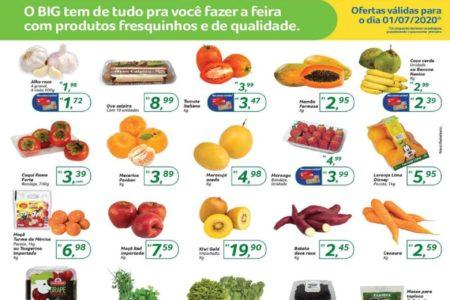 Folheto BIG produtos fresquinhos hoje ofertas para 01/07: confira
