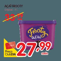 Oferta de Açaí Frooty no Dia Supermercado