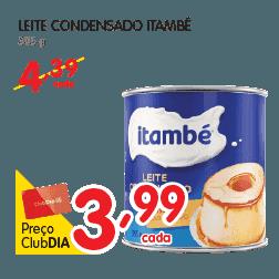 Oferta de Leite Condensado Itambé no Dia Supermercado