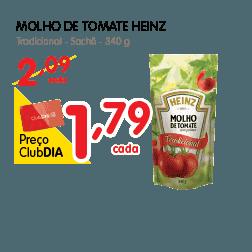 Oferta de molho de Tomate no Dia Supermercado