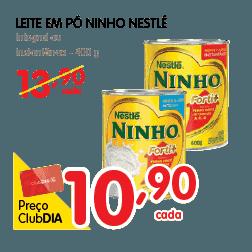 Oferta de Leite em pó Ninho no Dia Supermercado