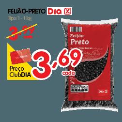 Oferta de Feijao Preto no Dia Supermercado