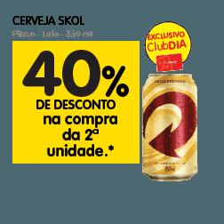 Oferta de Cerveja no Dia Supermercado